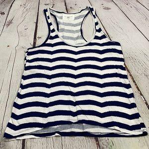 Sol Angeles blue white striped tank top xs